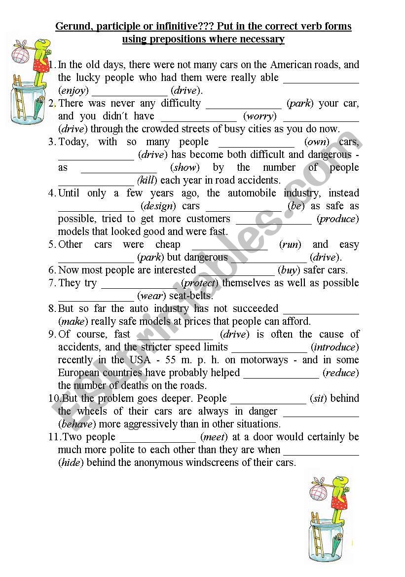 Gerund or infinitive? worksheet