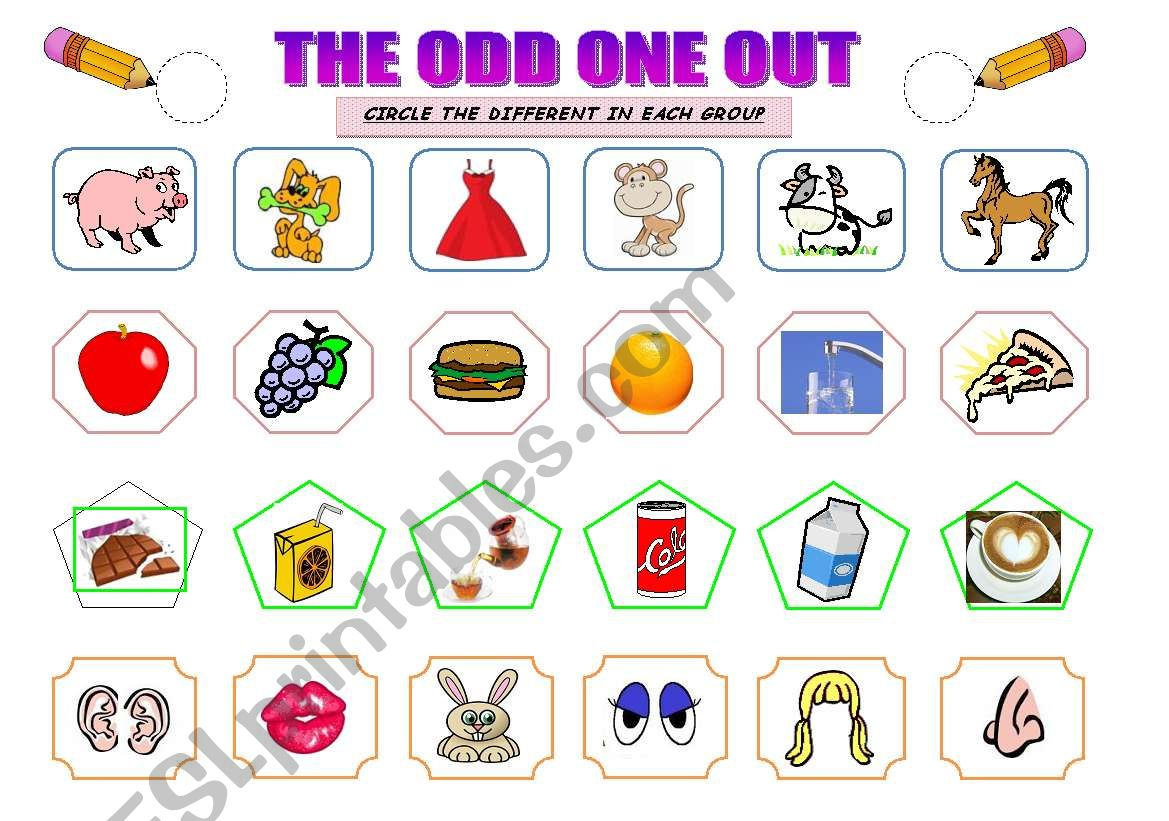 THE ODD ONE OUT worksheet