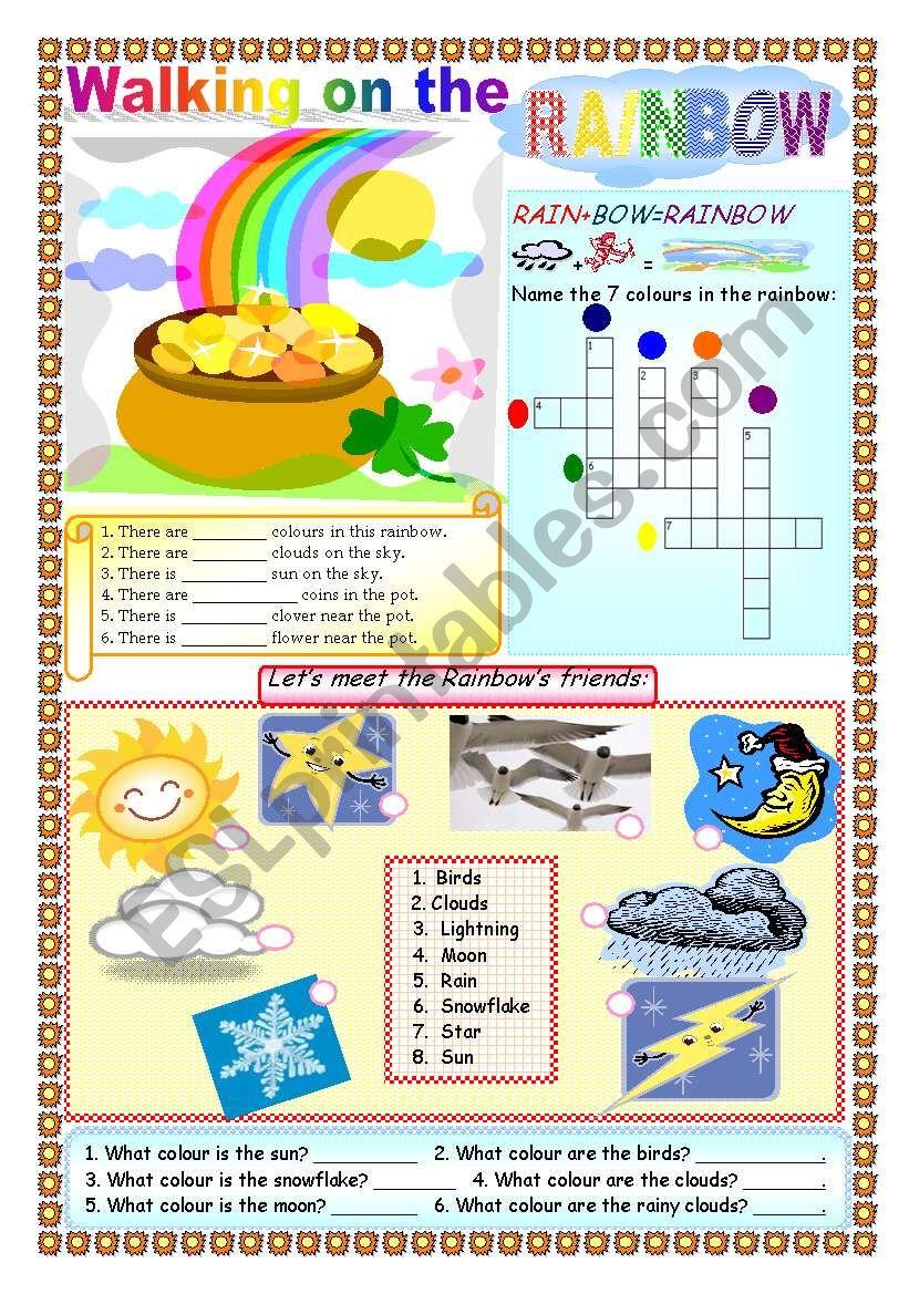 Walking on the Rainbow worksheet