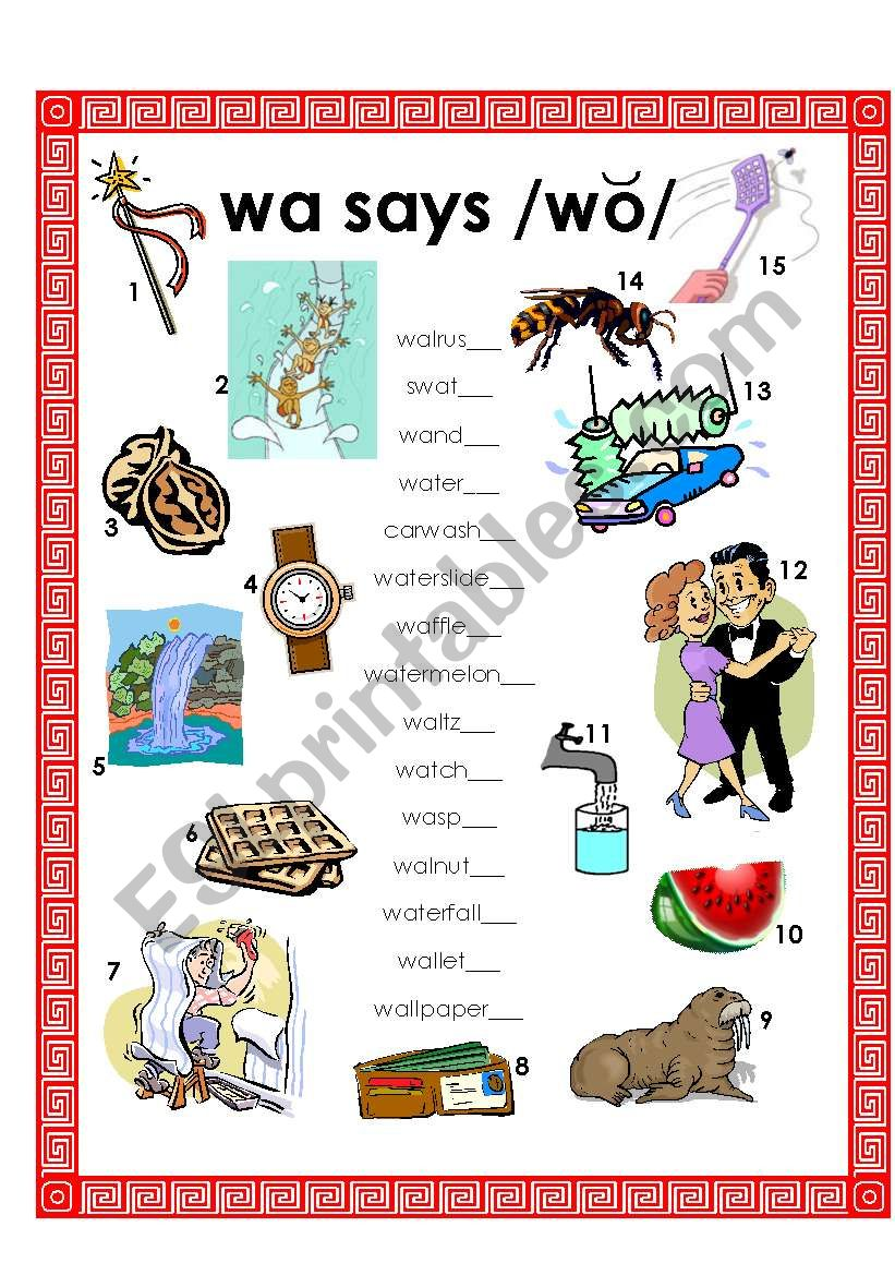 wa says /wo/ - w changes vowel sound when b4 vowel a - ESL ...