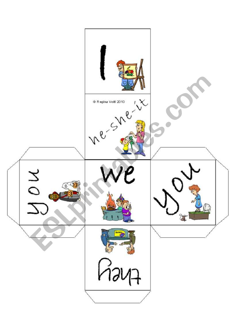Personal Pronouns (Subject Pronouns) Cube / Dice (by blunderbuster)