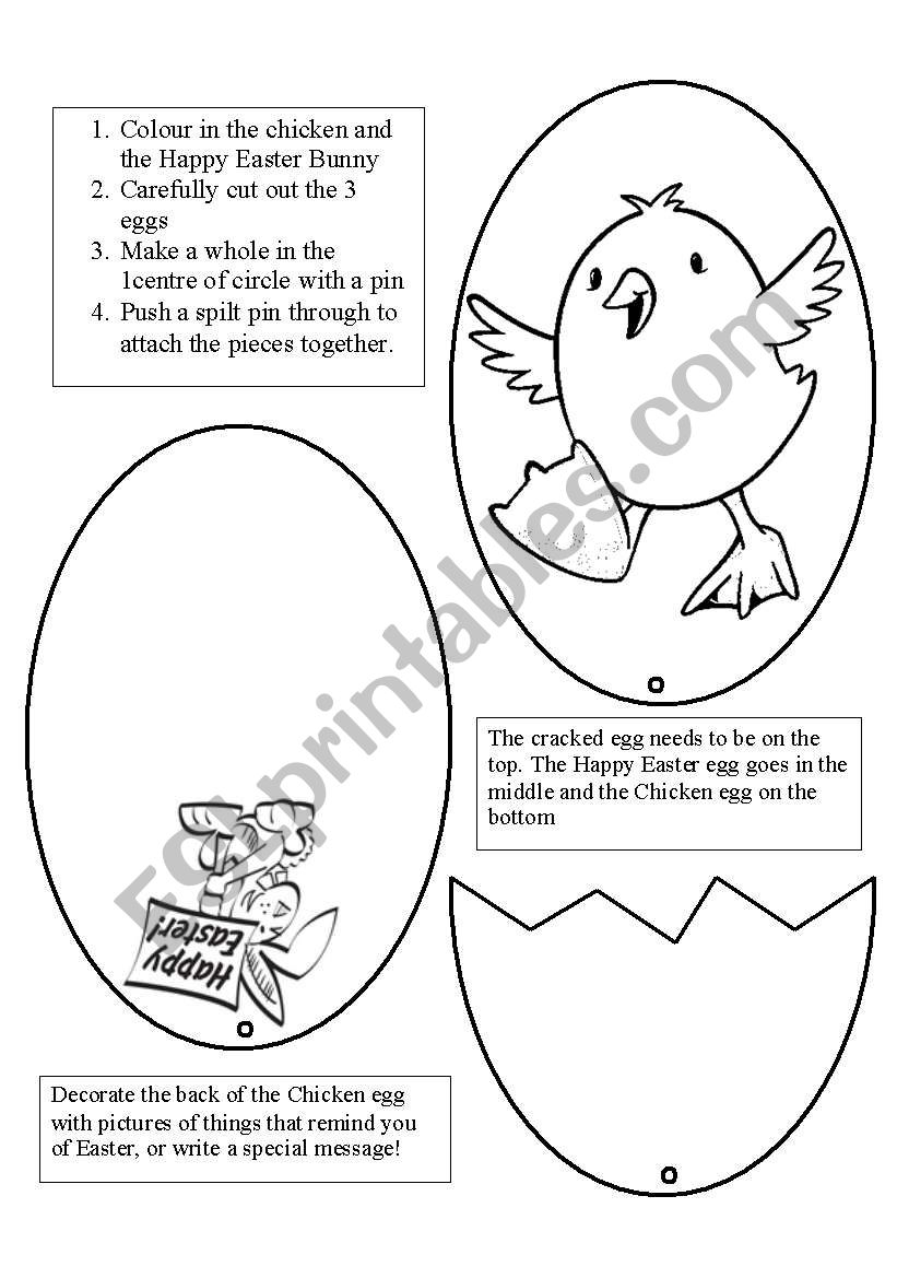 easter egg card esl worksheet by sarahkoop