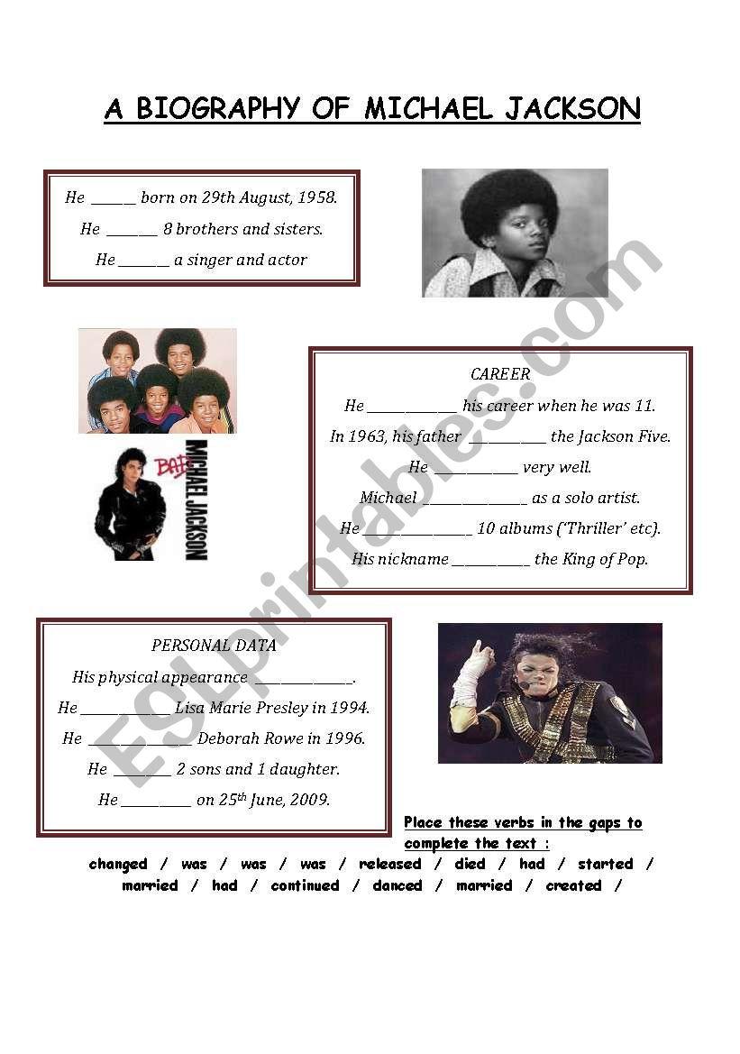 A Biography of Michael Jackson