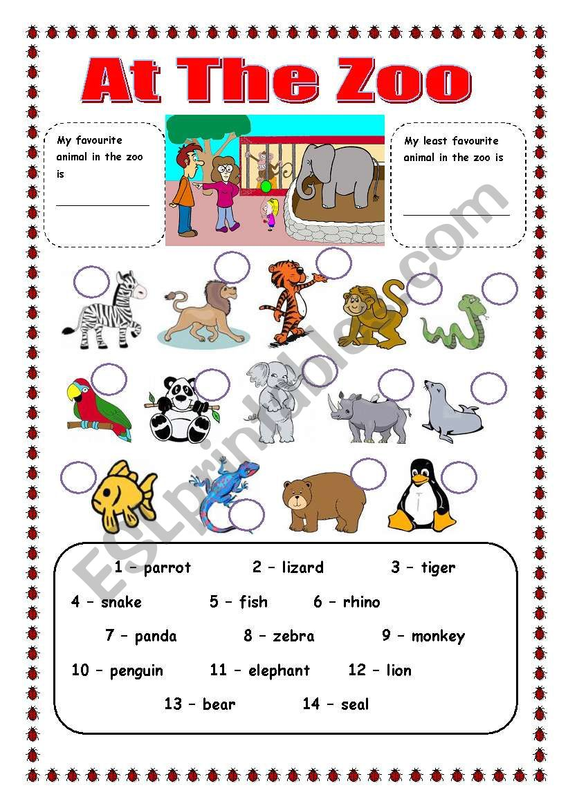 zoo animals esl worksheet by trixie1973. Black Bedroom Furniture Sets. Home Design Ideas