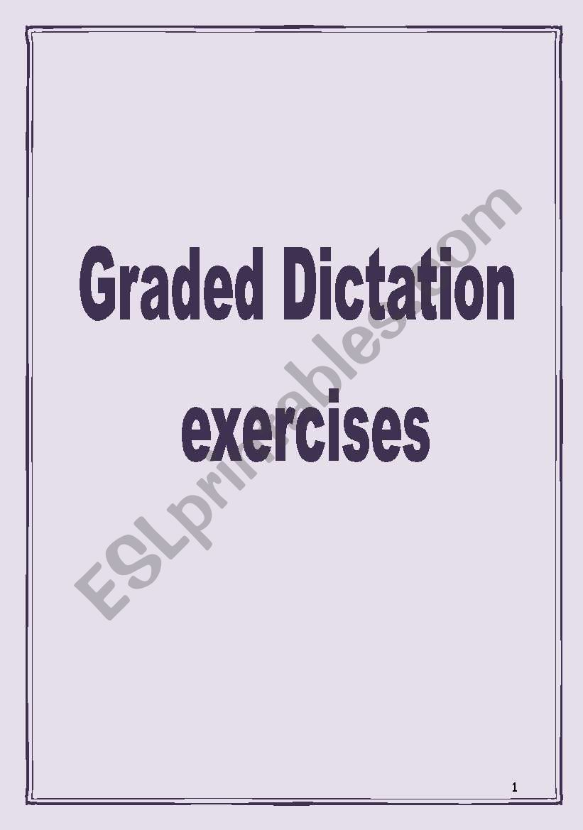 Graded Dictations worksheet