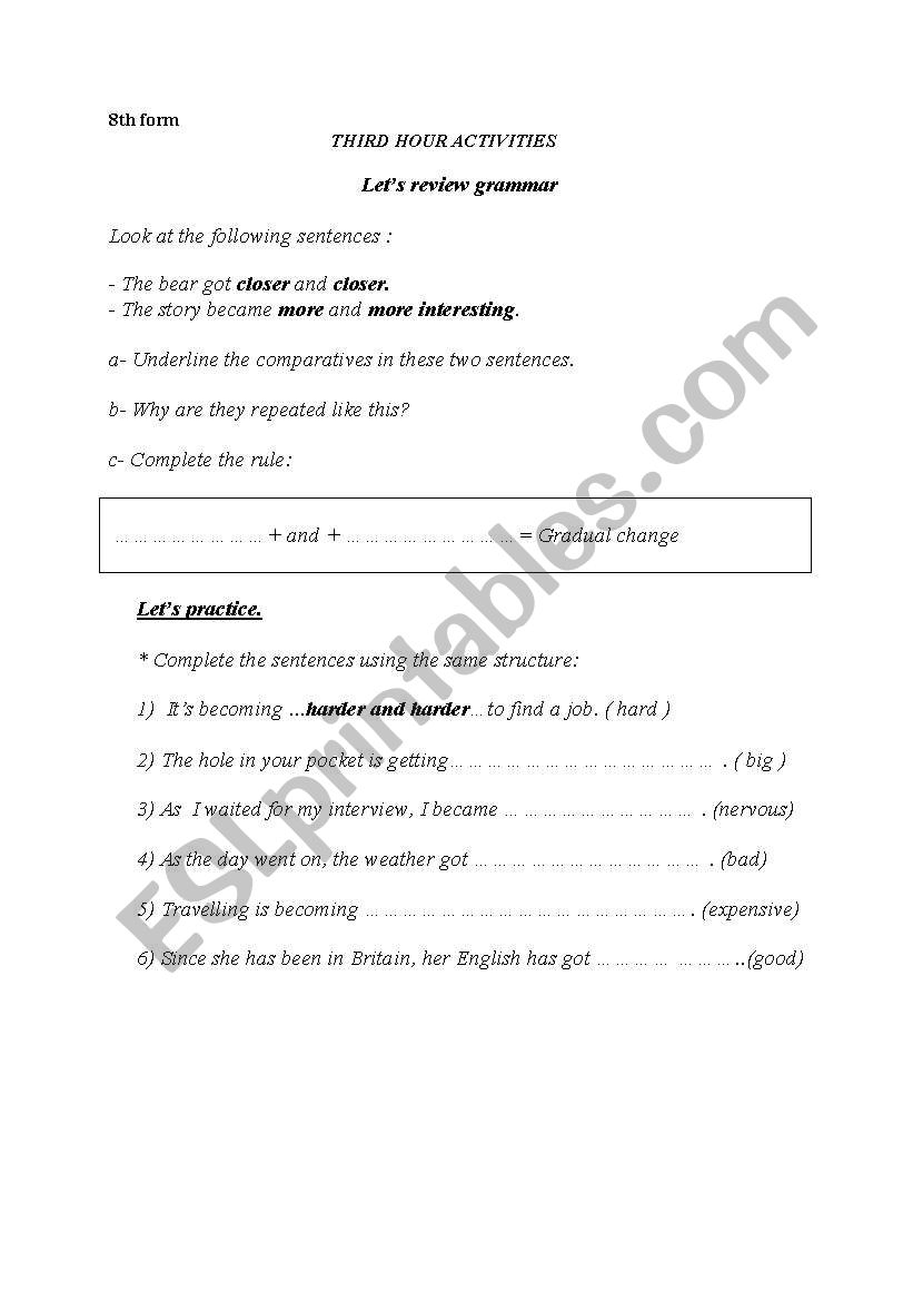 Comparative+ and+ comparative worksheet
