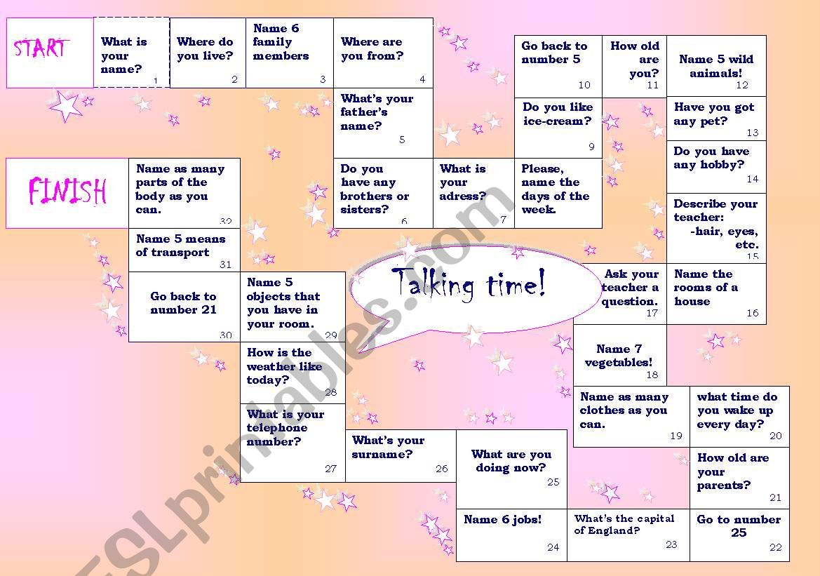 Talking time! worksheet