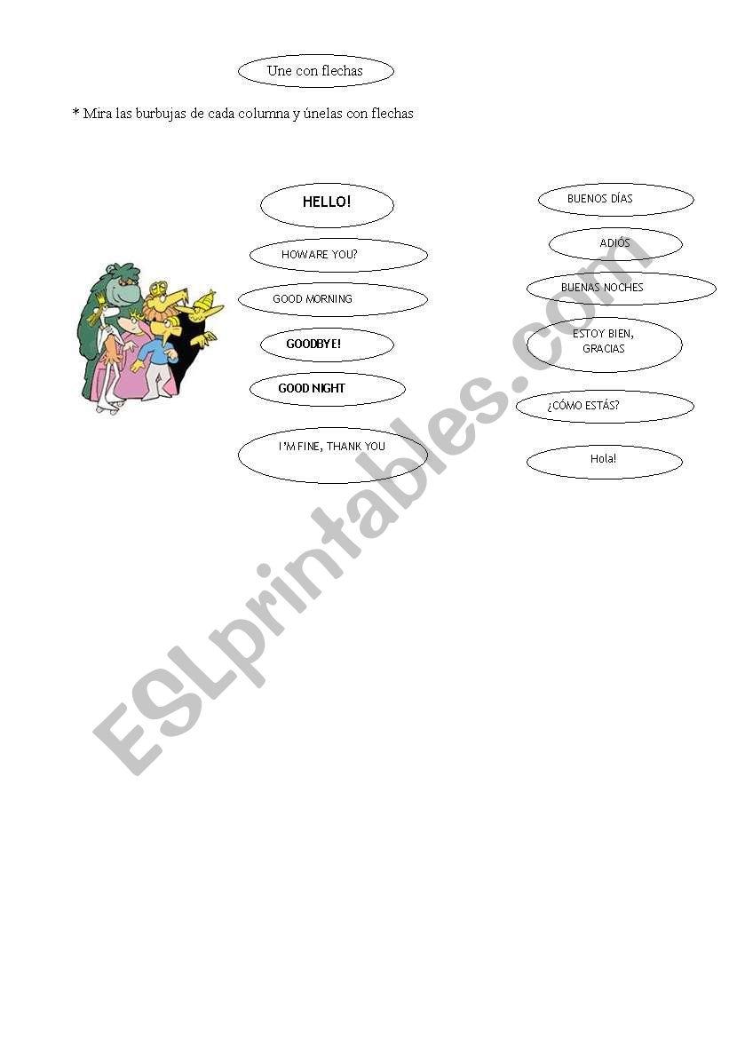 Greetings English Spanish Esl Worksheet By Triska