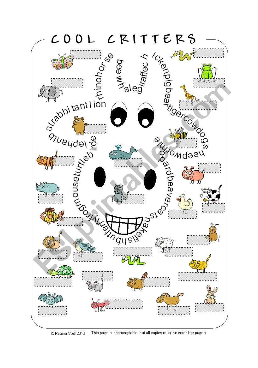Cool Critters - Animal Wordsearch/Pictionary (by blunderbuster)