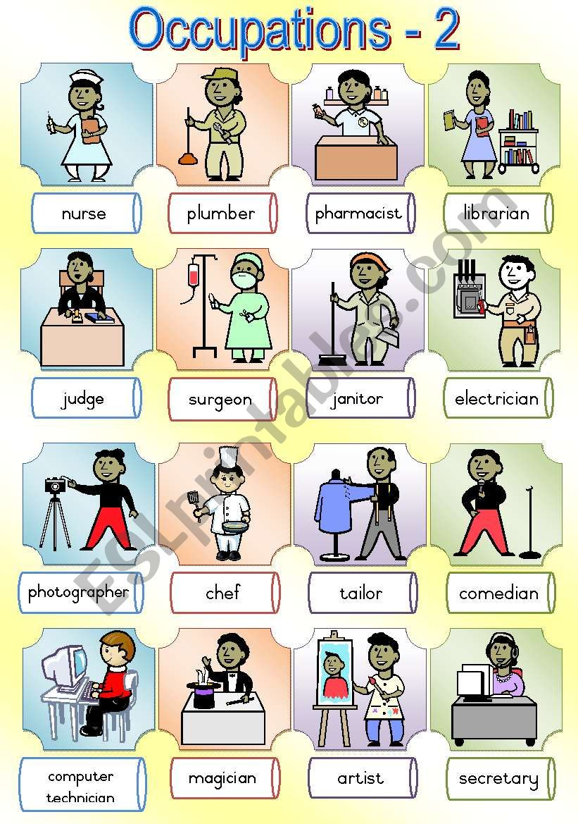 Occupations Poster 2 worksheet
