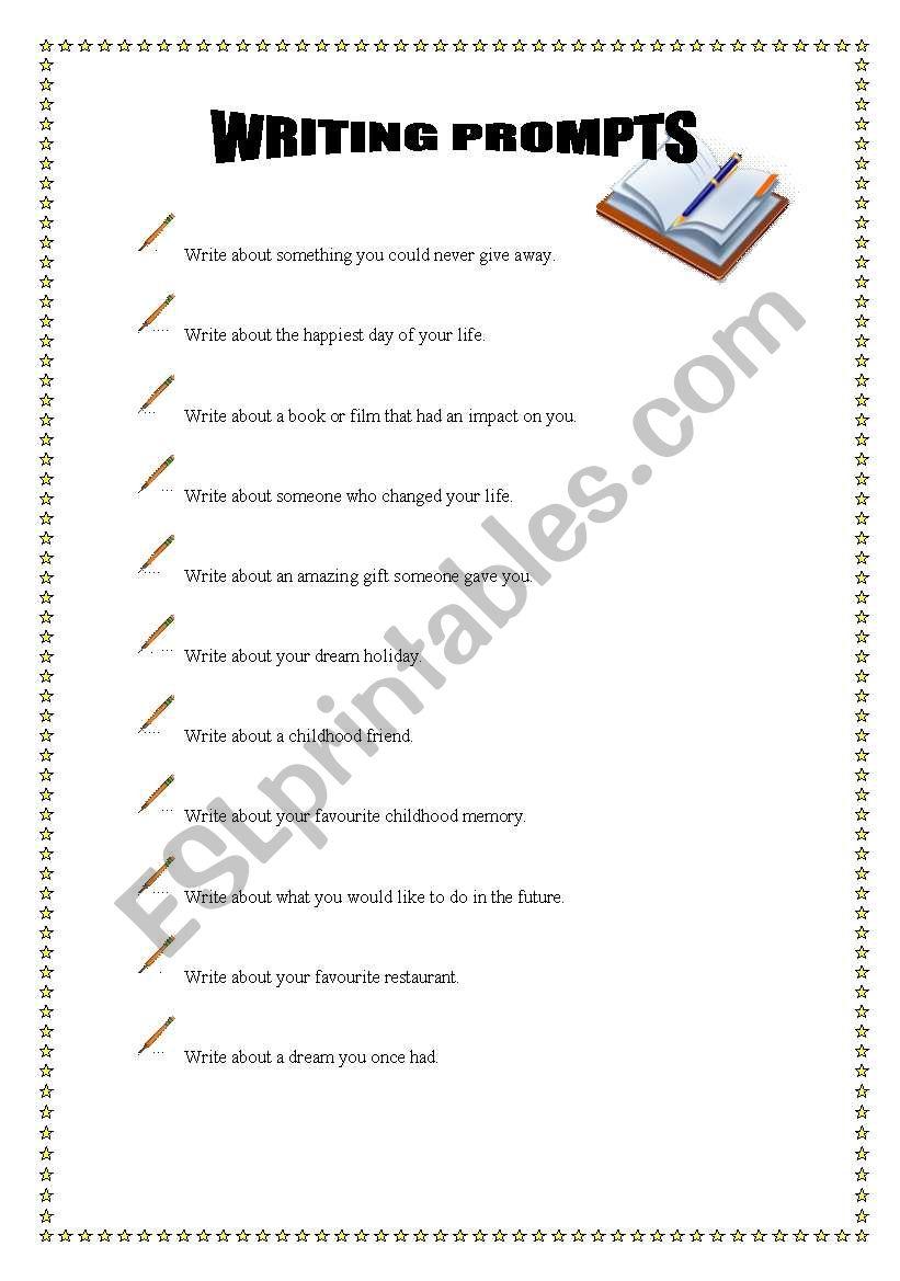 writing prompts worksheet