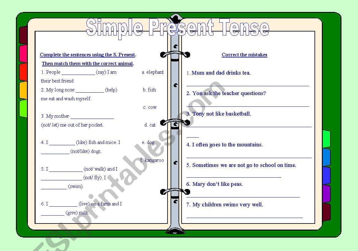 Simple Present Tense  worksheet