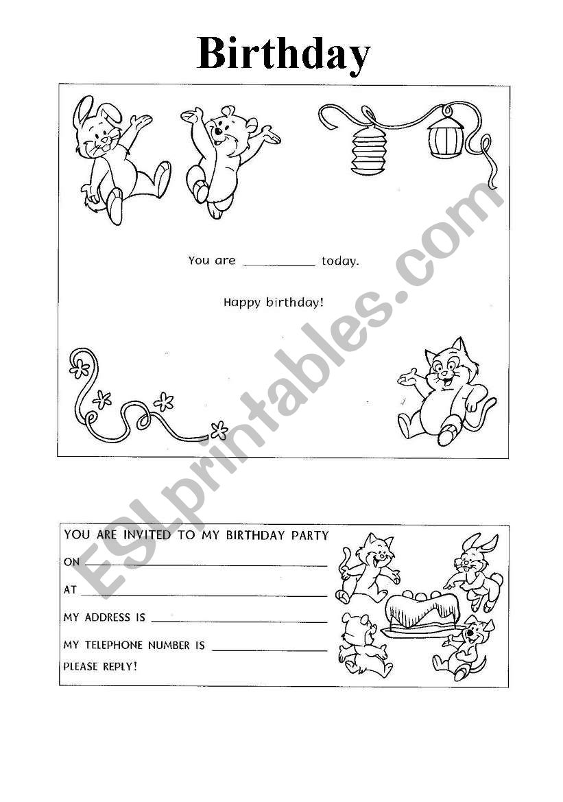 birthday card esl worksheet by miciogatta. Black Bedroom Furniture Sets. Home Design Ideas