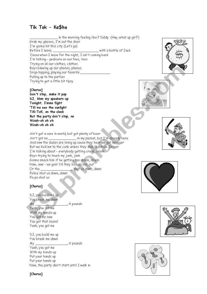 Tik Tok - Ke$ha - Song activity