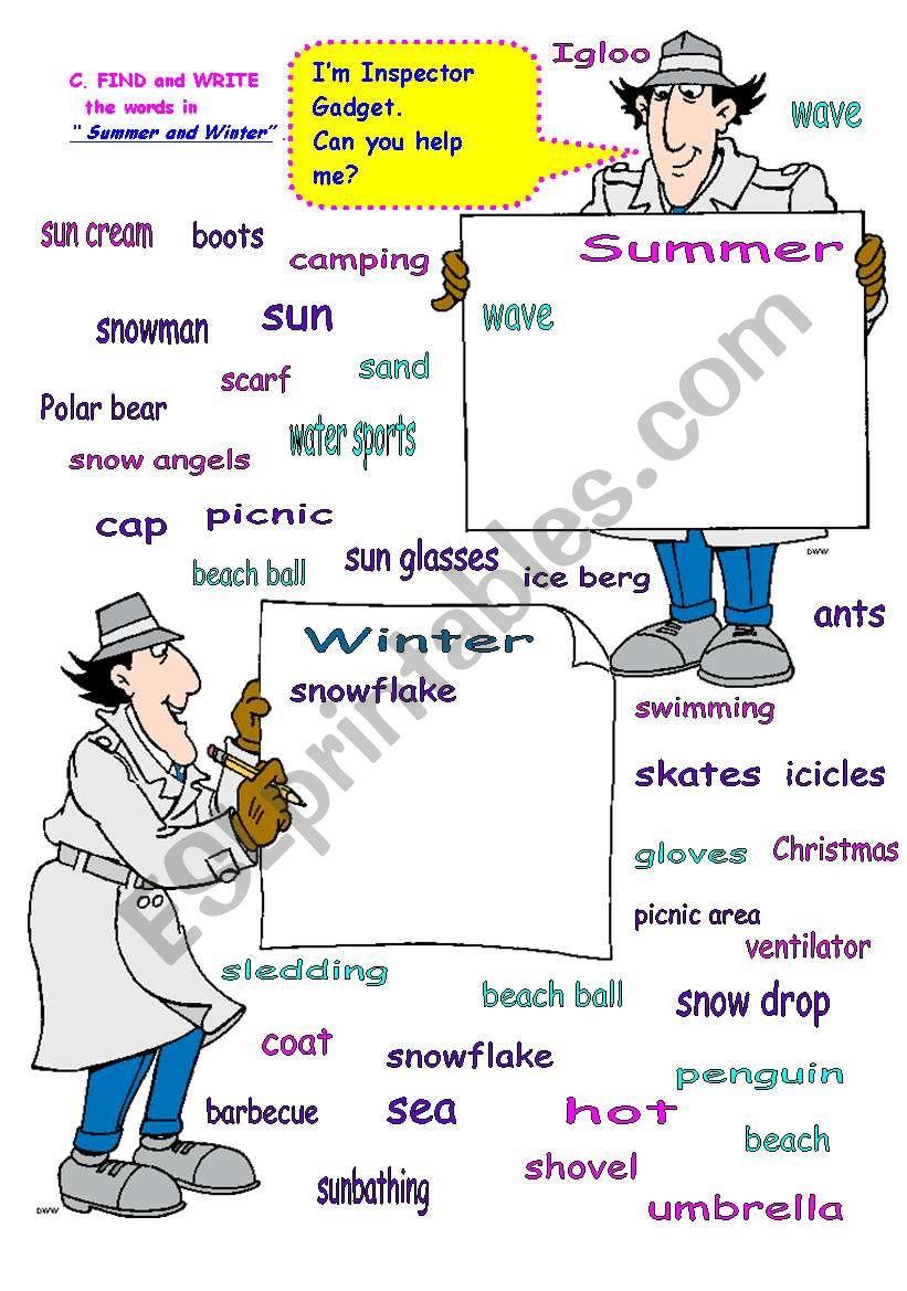 d3134ca2d5a SUMMER   WINTER - ESL worksheet by maggie 35