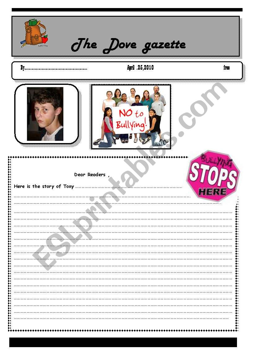 bullying -part 2 worksheet