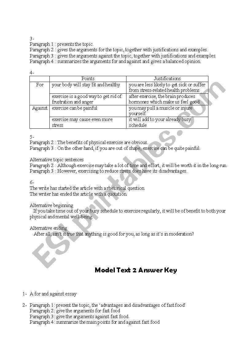 Discursive Essay Made Easy + 12 Sample Essays - ESL worksheet by