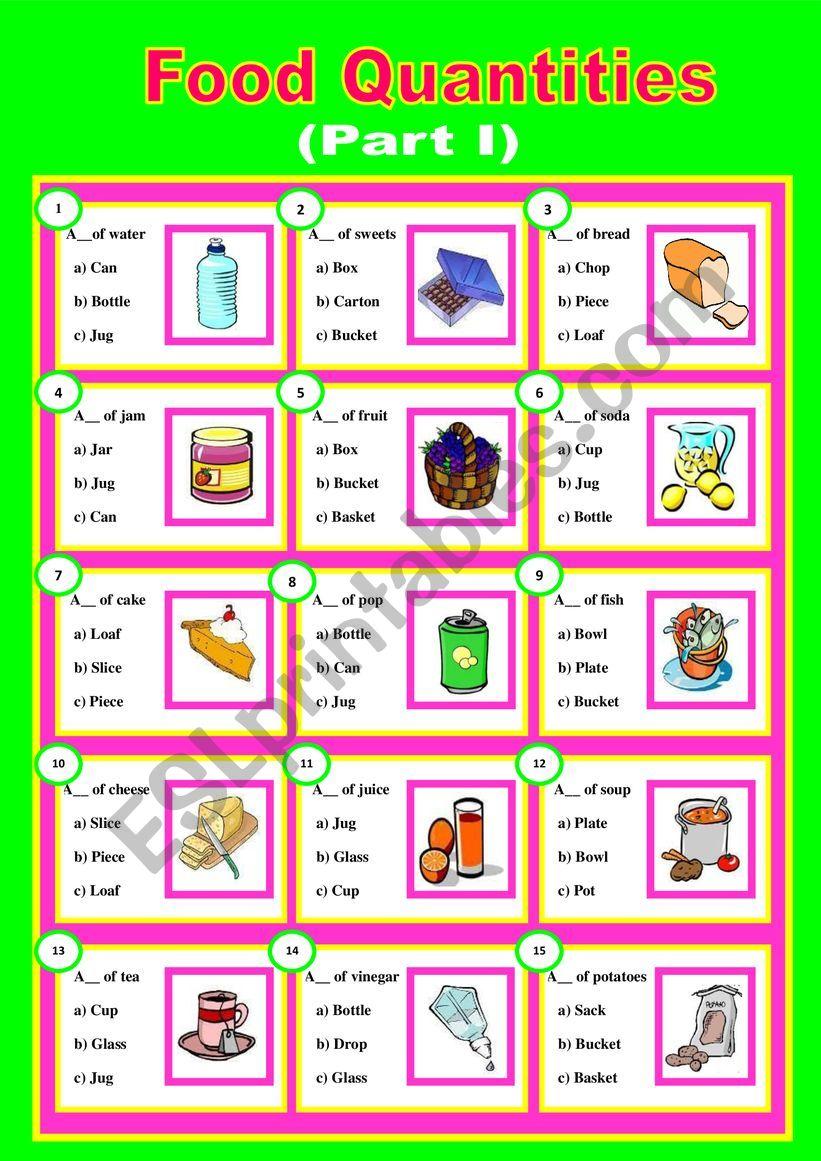 Quantifiers (Part I) worksheet