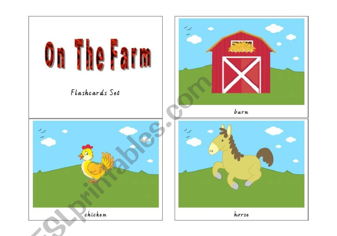 graphic regarding Printable Animal Flash Cards referred to as Aged Macdonald Experienced A Farm - Printable Animal Flashcards - ESL