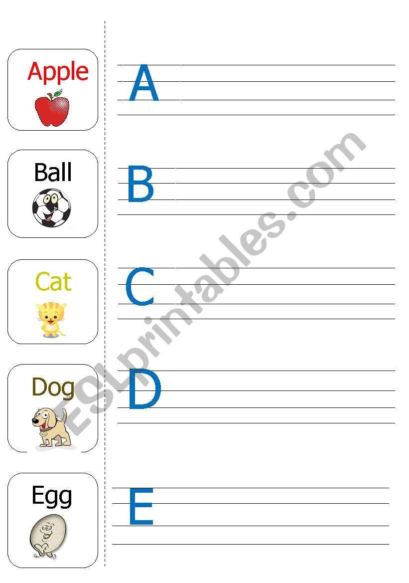 Writing the Alphabets (A-E)-part1