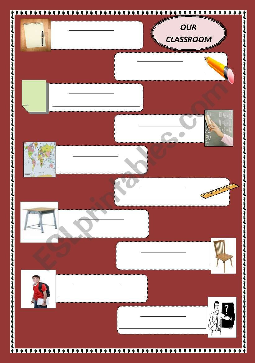 Our classroom worksheet