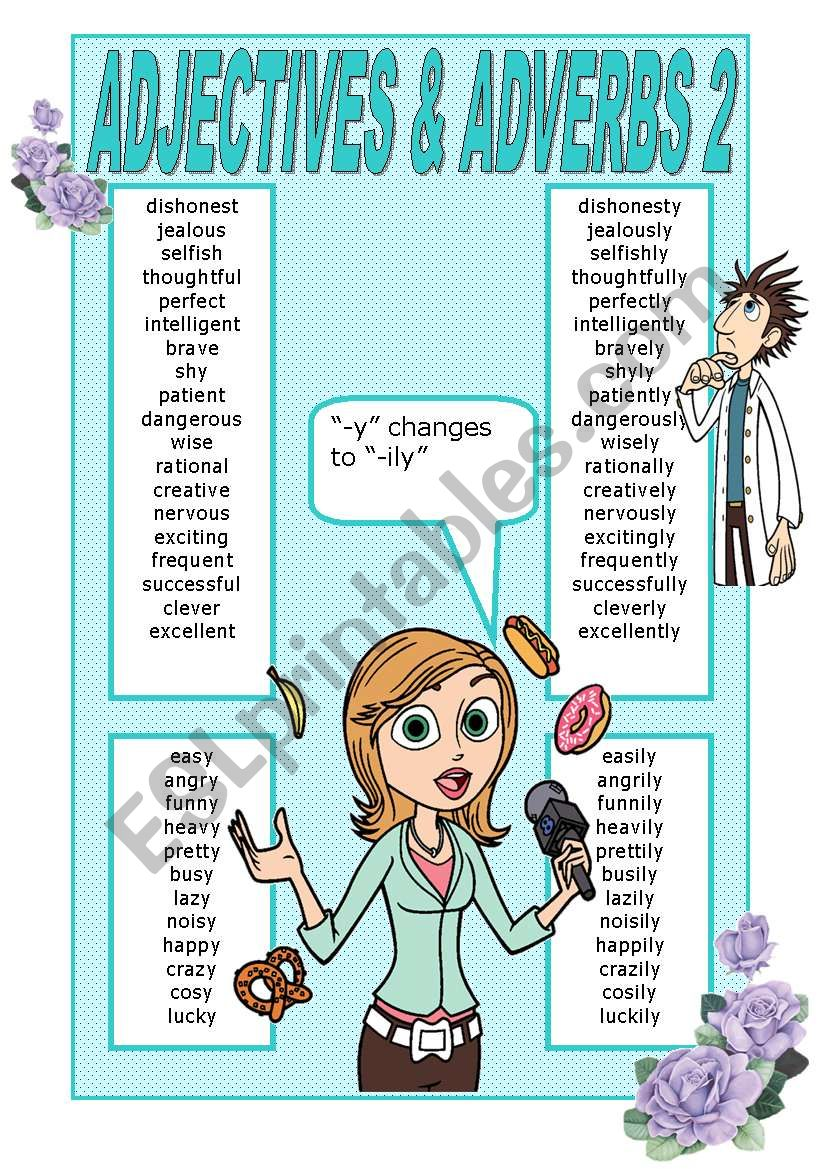 ADJECTIVES AND ADVERBS POSTER 2
