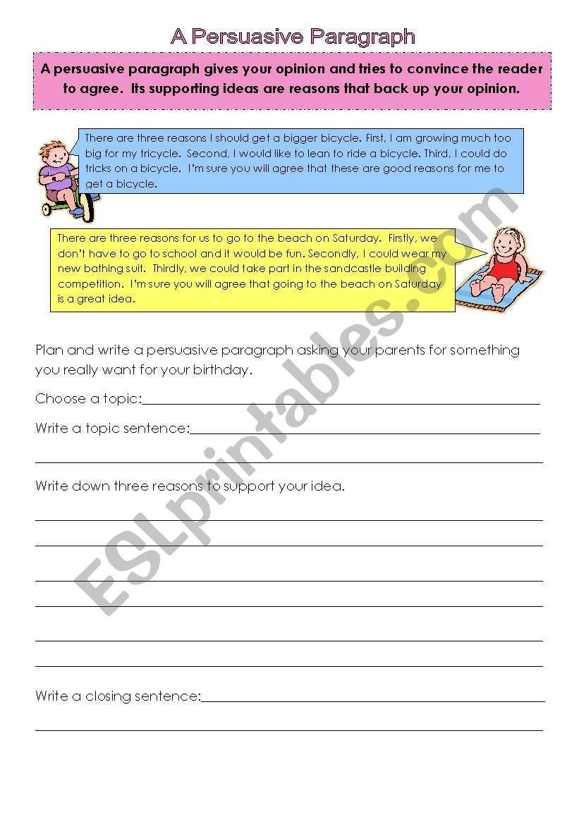 Persuasive paragraph. Persuasive Essay Examples College ... |Persuasive Paragraph