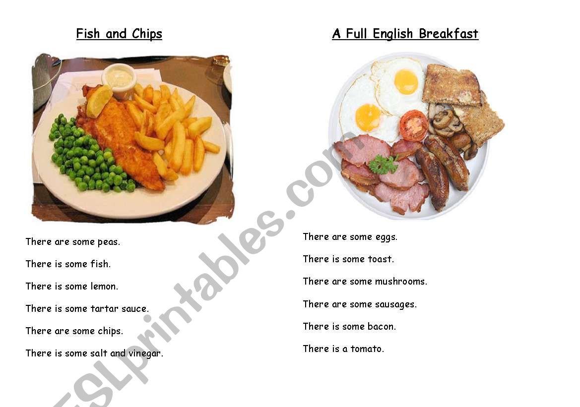 British Dishes Pairwork worksheet
