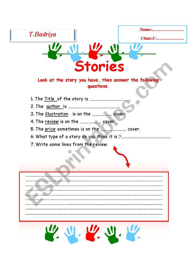 stories worksheet