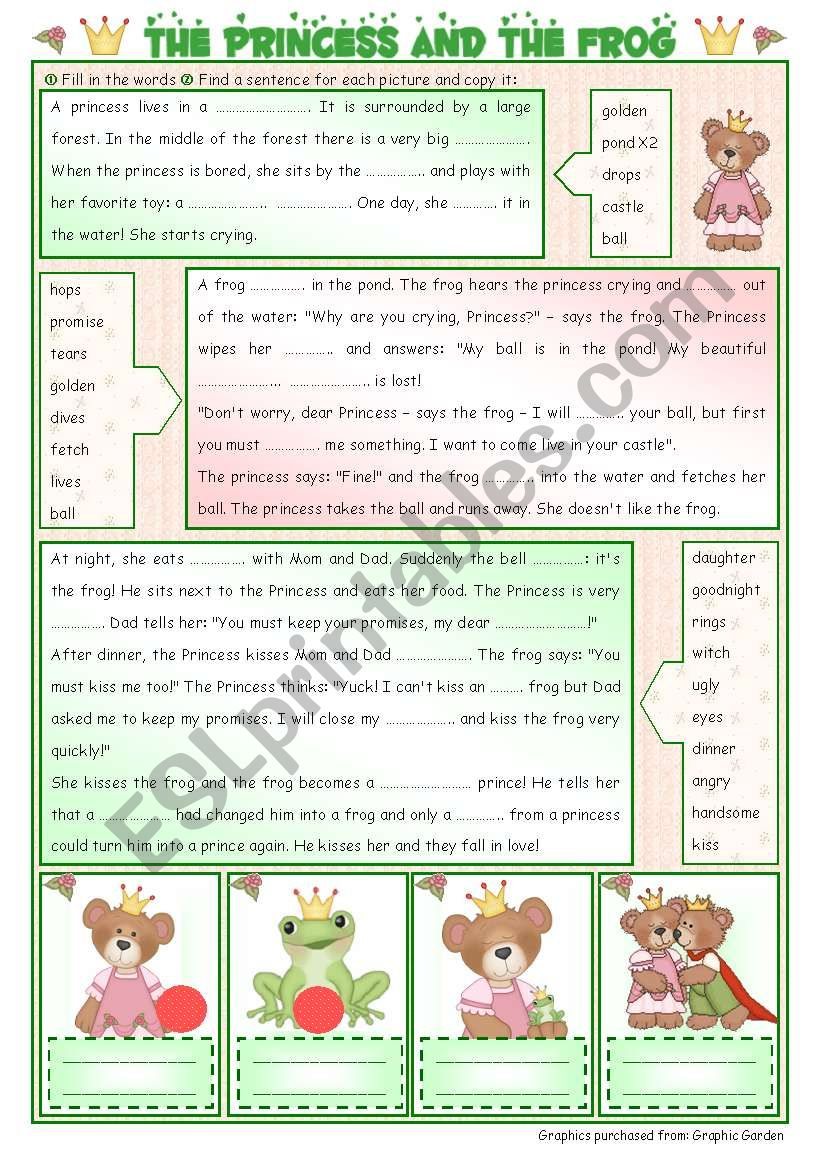 Fairy Tales/ Stories (11): The Princess and the Frog - ESL