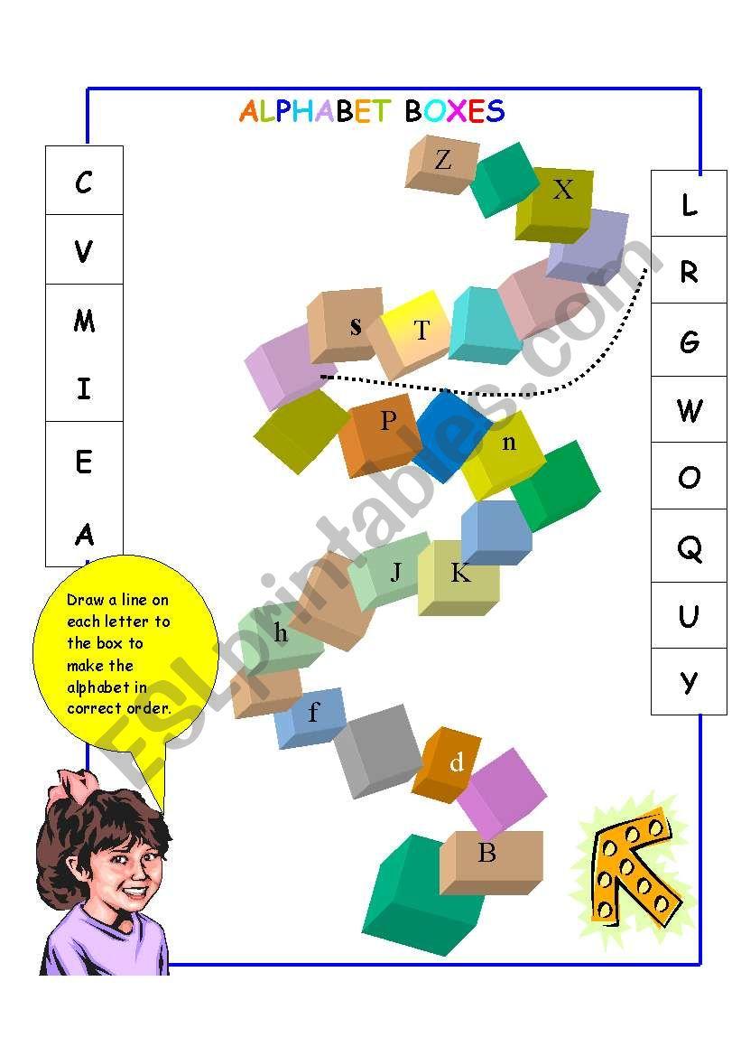 alphabet boxes worksheet