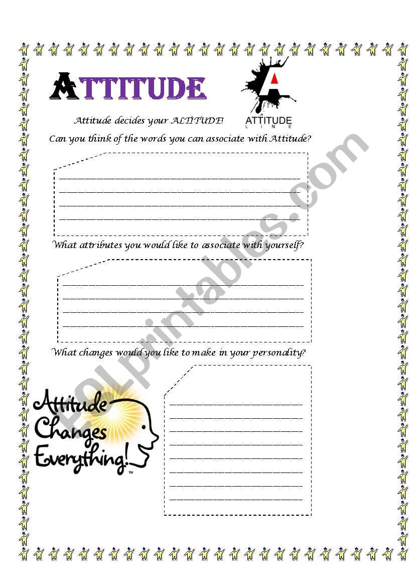 English worksheets: Attitude