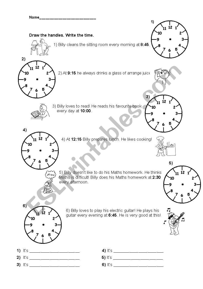 PRACTICE -THE TIME worksheet