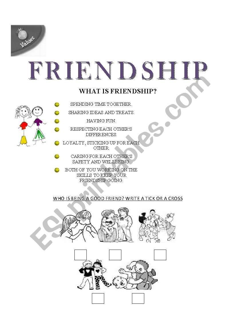 friendship worksheet