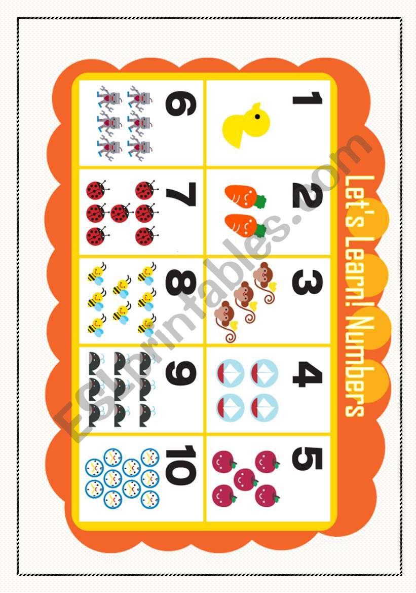 LET´S LEARN NUMBER1 worksheet