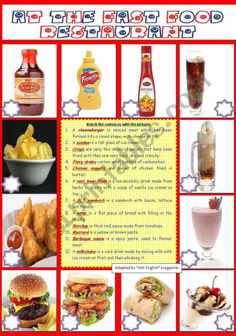 FOOD: AT THE FAST FOOD RESTAURANT