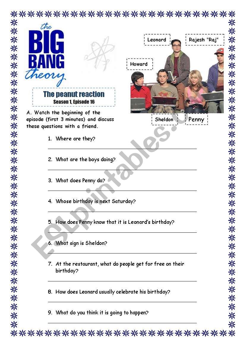 The big bang theory - The peanut reaction s01 e16