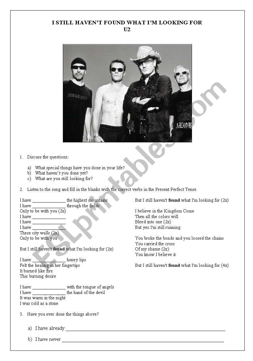 U2 - I Still  Haven´t Found What I´m Looking For