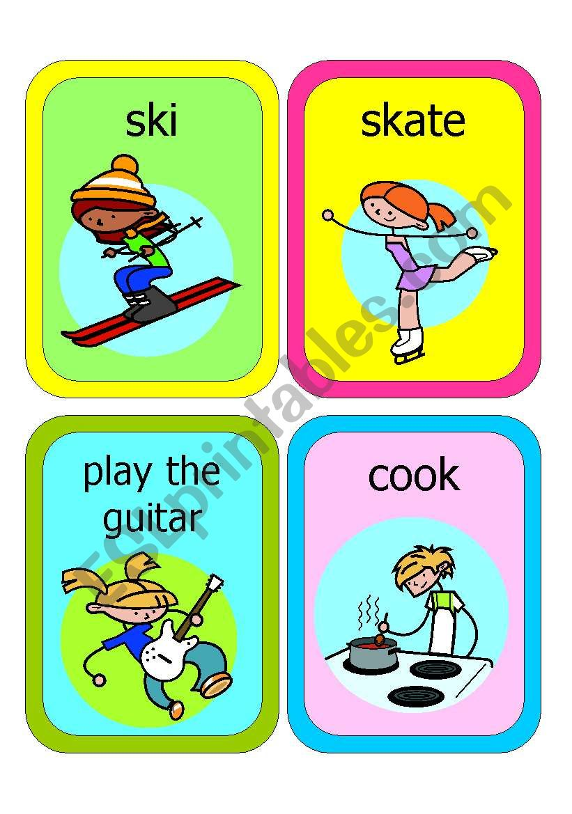 ACTION PICTURE FLASHCARDS worksheet