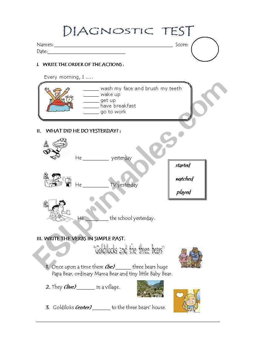 test primary school - ESL worksheet by aniluza