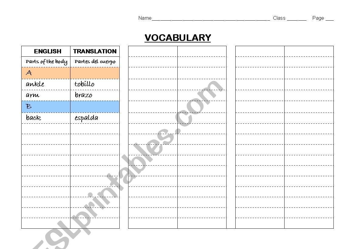 Dictionary skills and vocabulary-study instrument