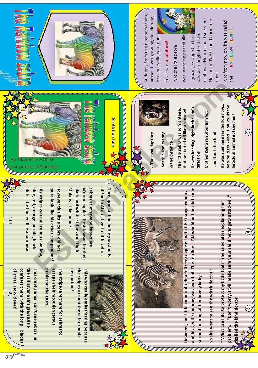 Rainbow zebra: my minibook n°3