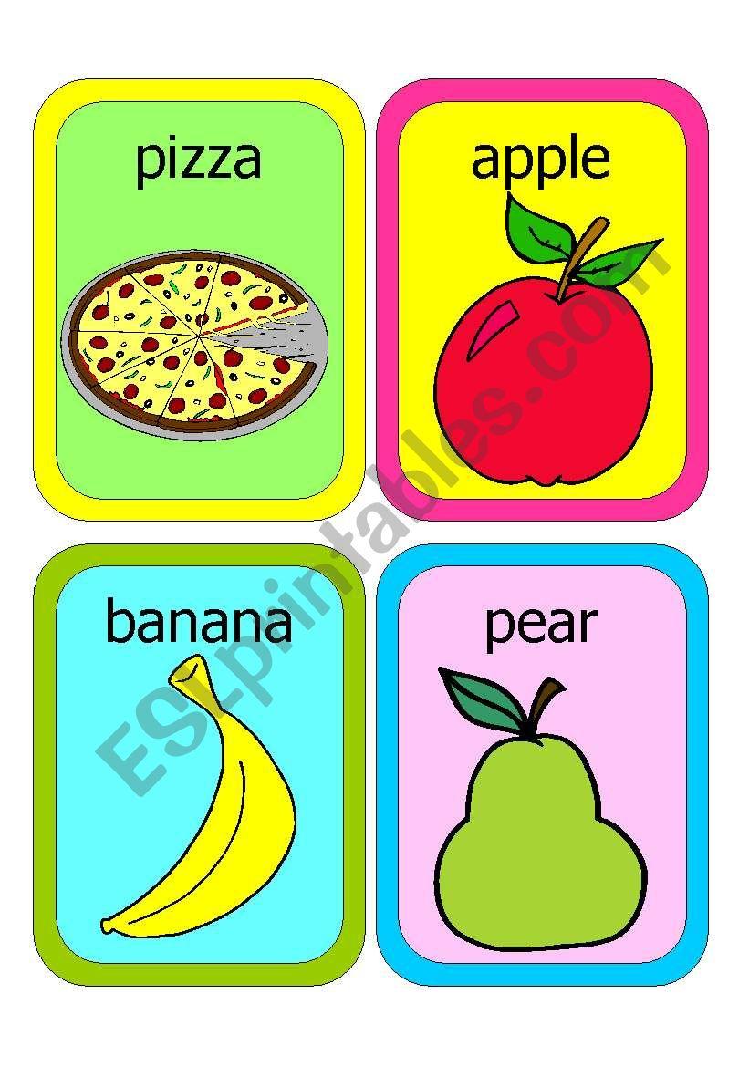 FOOD FLASHCARDS worksheet