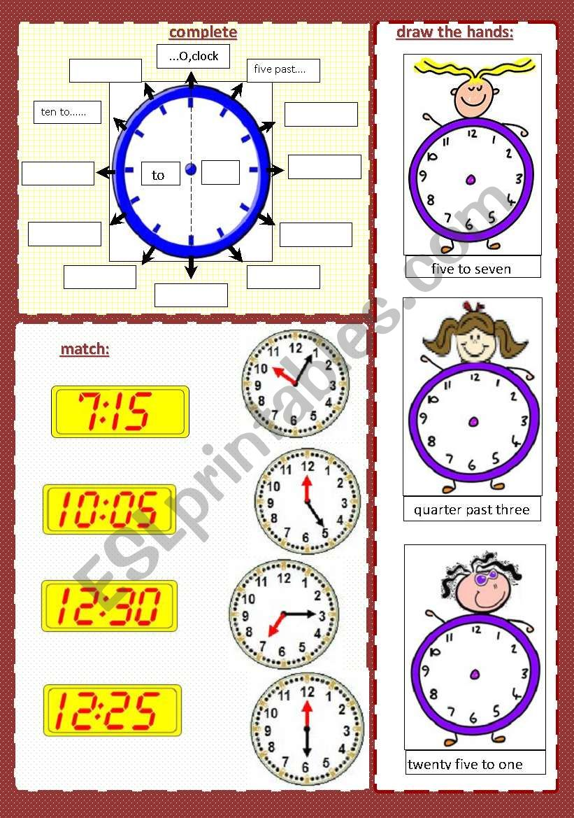 WHAT TIME IS IT? (2/2) ****(editable)