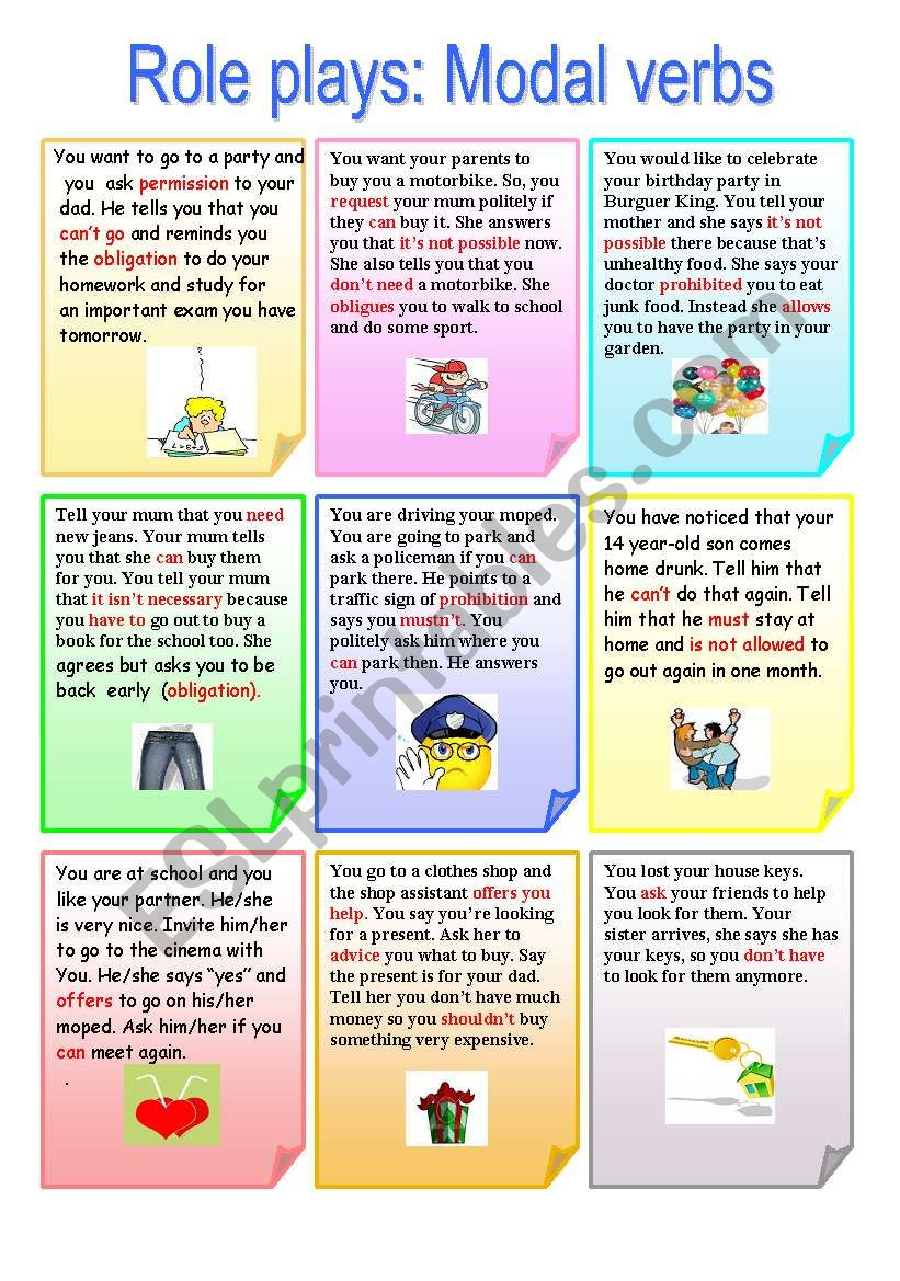 Role play: Modal Verbs worksheet