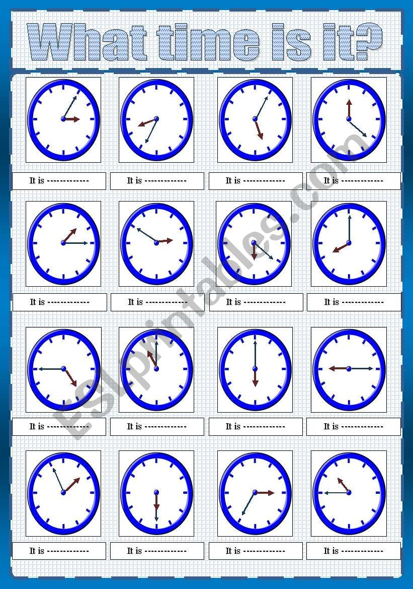 telling the time****( fully editable)