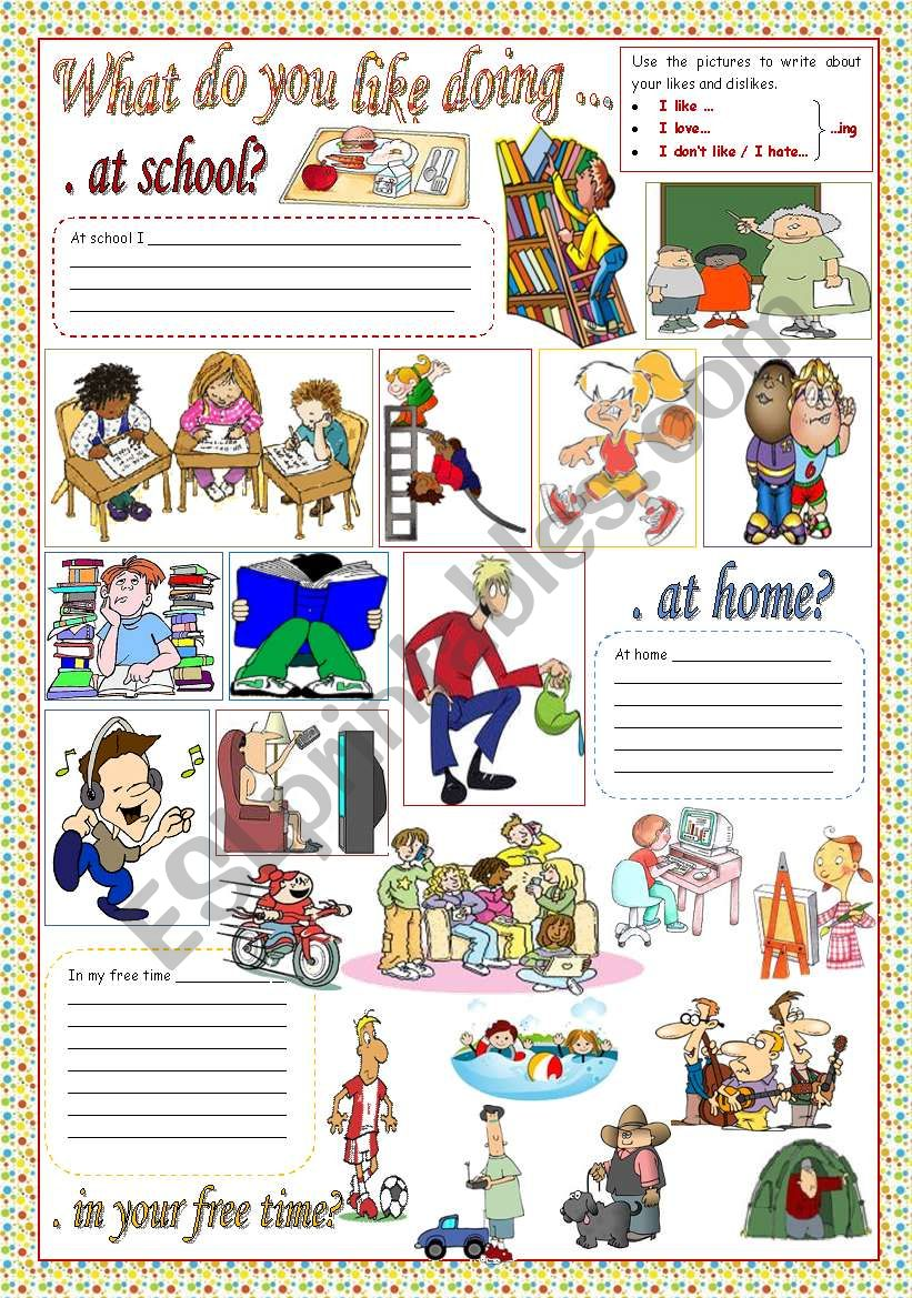 WHAT DO YOU LIKE DOING...? worksheet