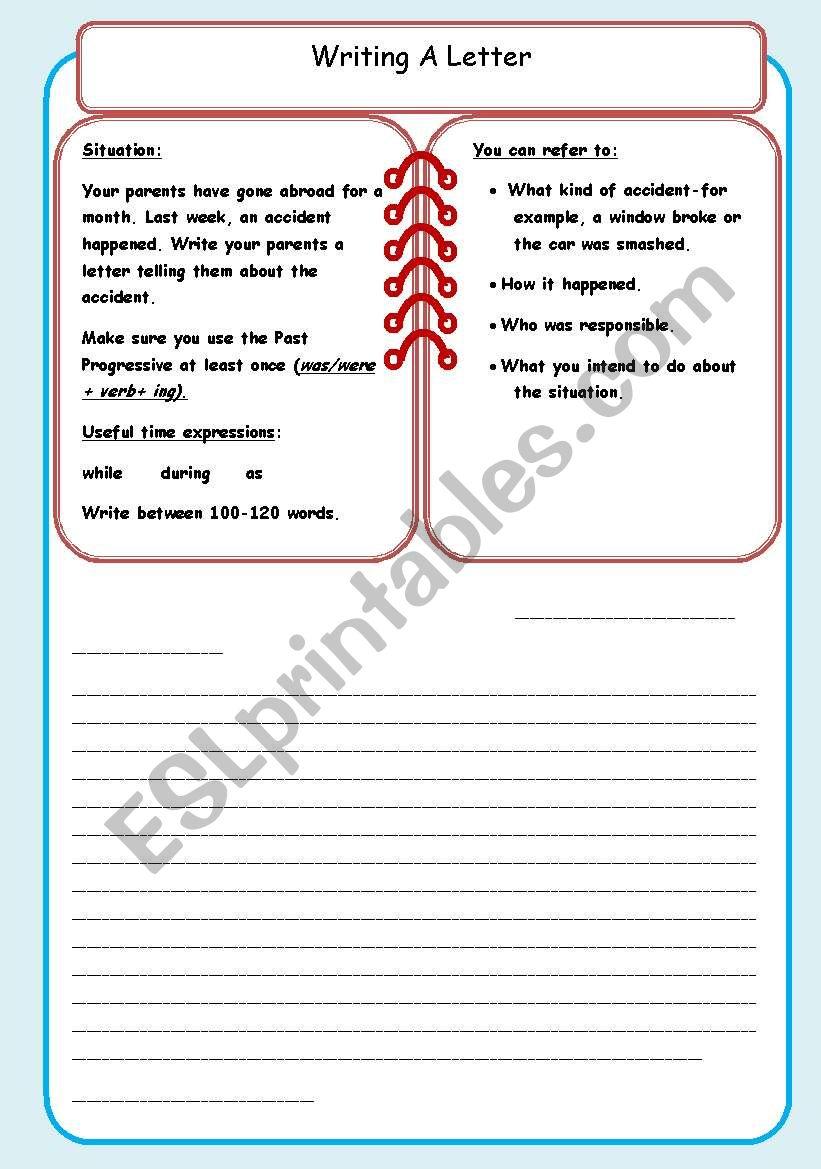 Writing an informal letter (2) - ESL worksheet by debbiem