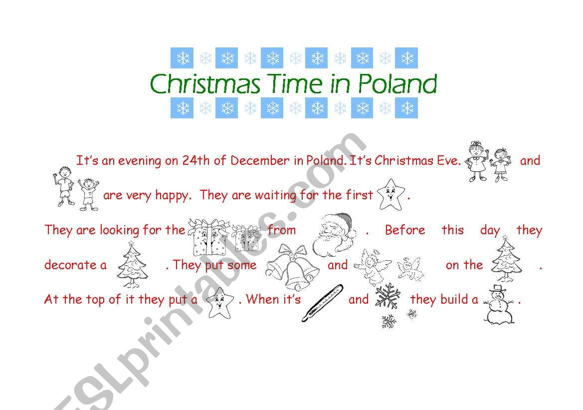 Christmas time in Poland worksheet