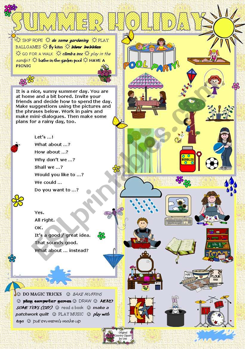 ff8cb3884ea SUMMER HOLIDAY - ESL worksheet by Tecus